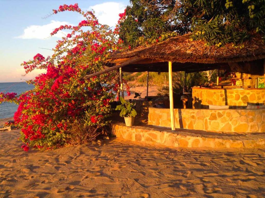 Malawi, Likoma Island, Bar vom Mango Drift in der Abendsonne