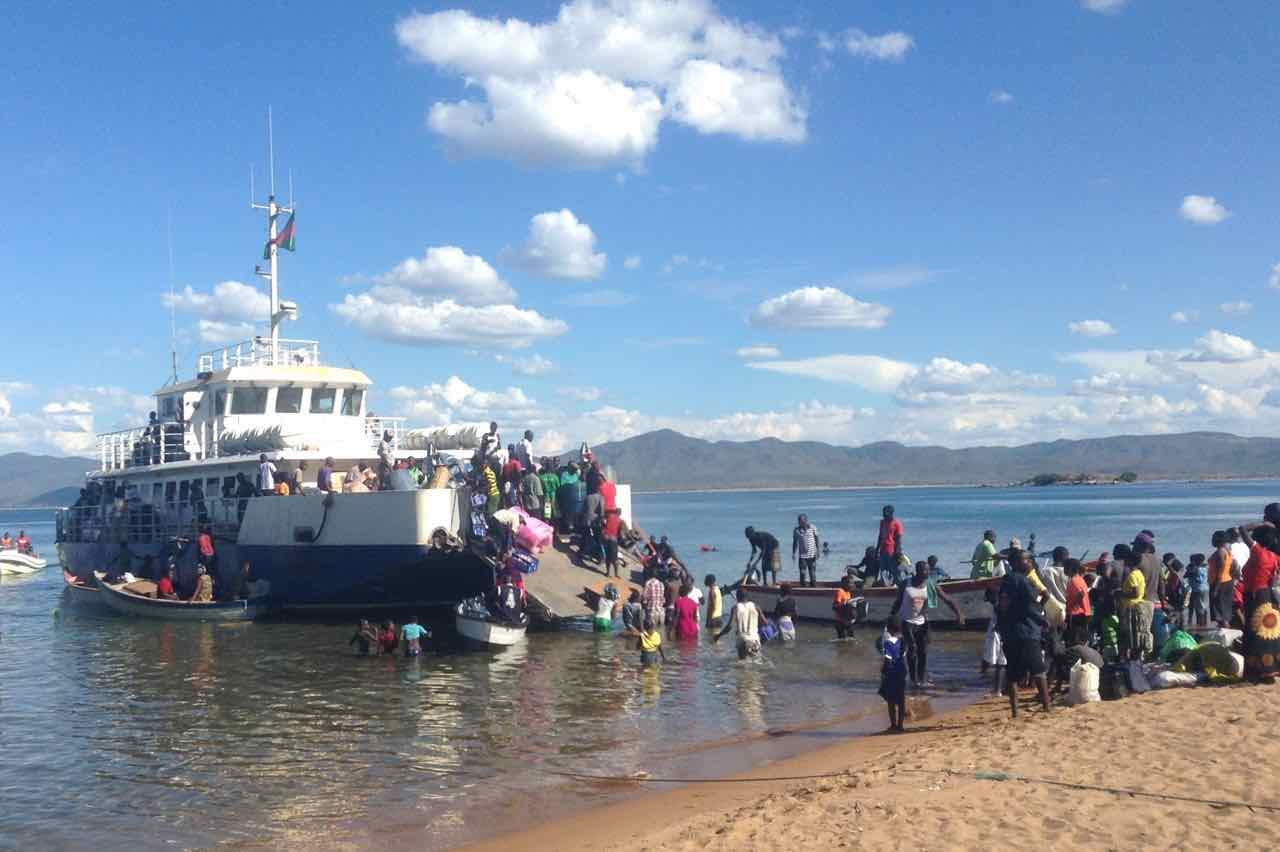 Likoma Island, Boarding der MS Chambo