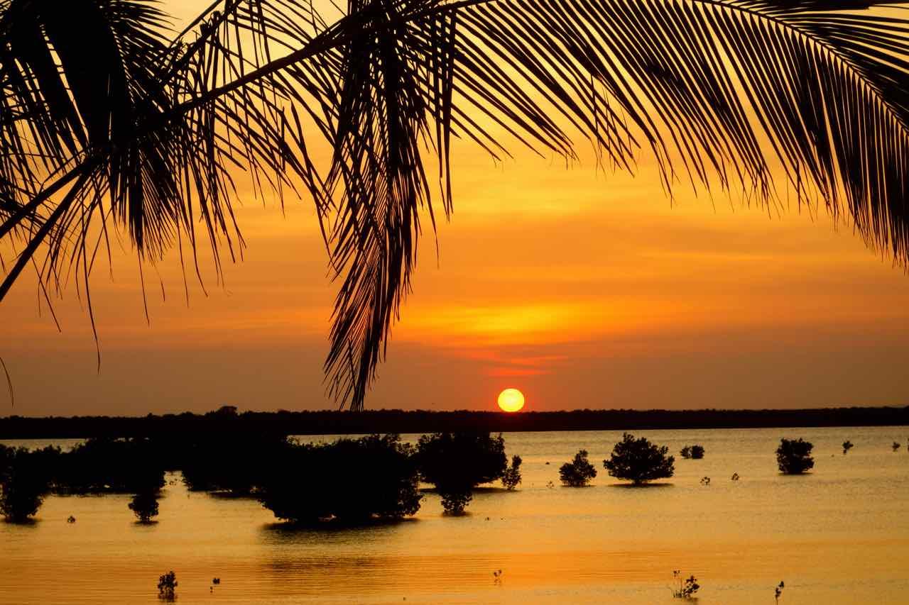 Mosambik, Ibo, Sonnenuntergang