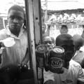 Mosambik, Straßenverkäufer s:w,