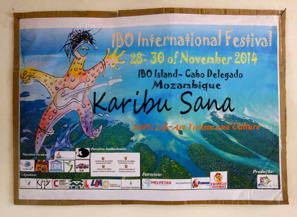 Mosambik, Ibo, Plakat vom Musikfestival