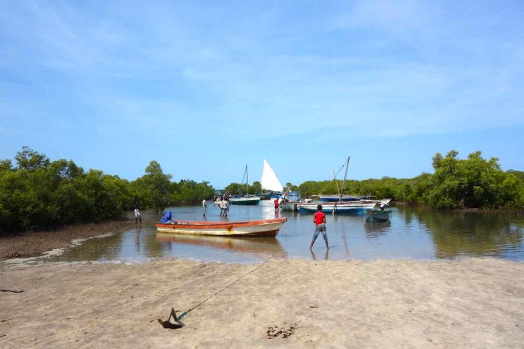 Mosambik, Ibo, Tandanhangue, Boote nach Ibo