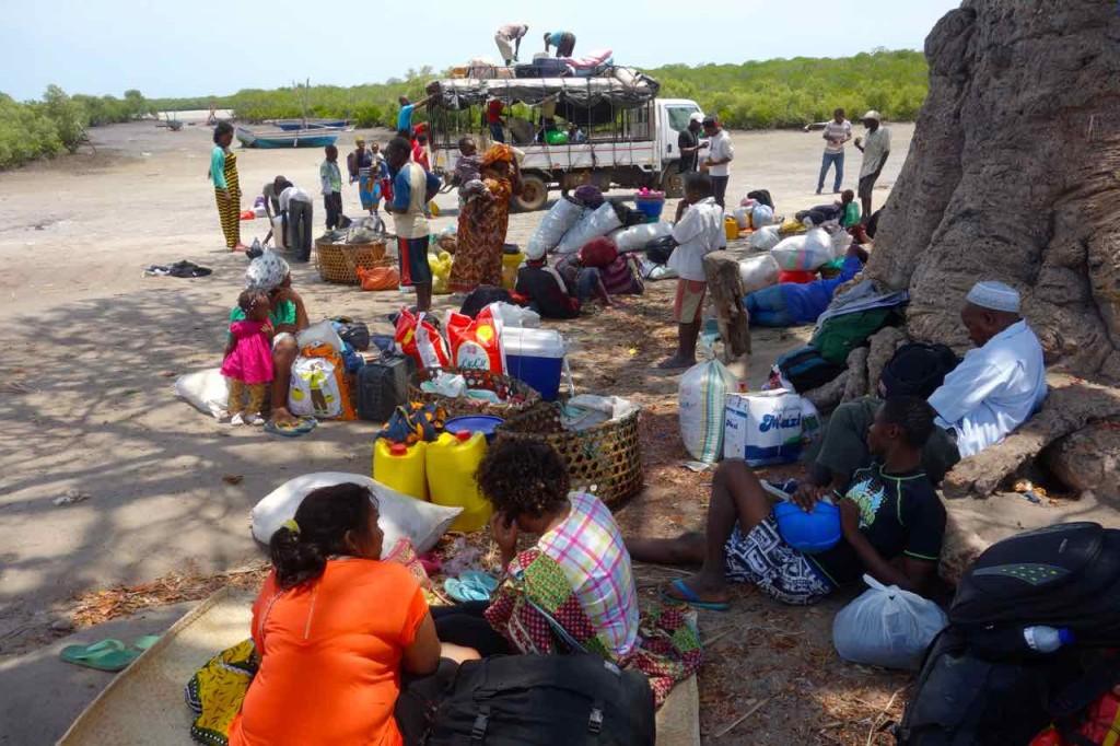 Mosambik, Ibo, Tandanhangue, Warten auf die Flut