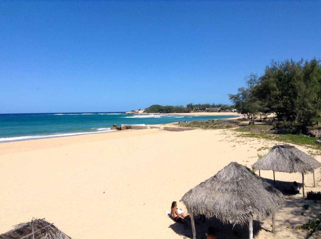Mosambik, Tofo, Strand vor Fatimas Nest