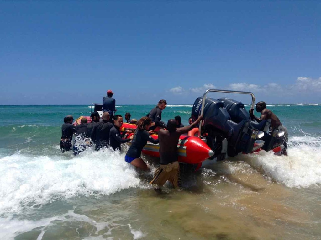 Mosambik, Tofo, Tauchboot