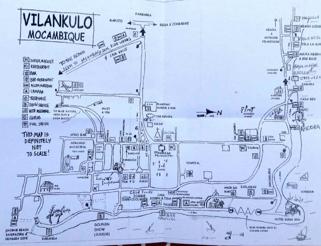 Mosambik, Vilankulos, Stadtplan