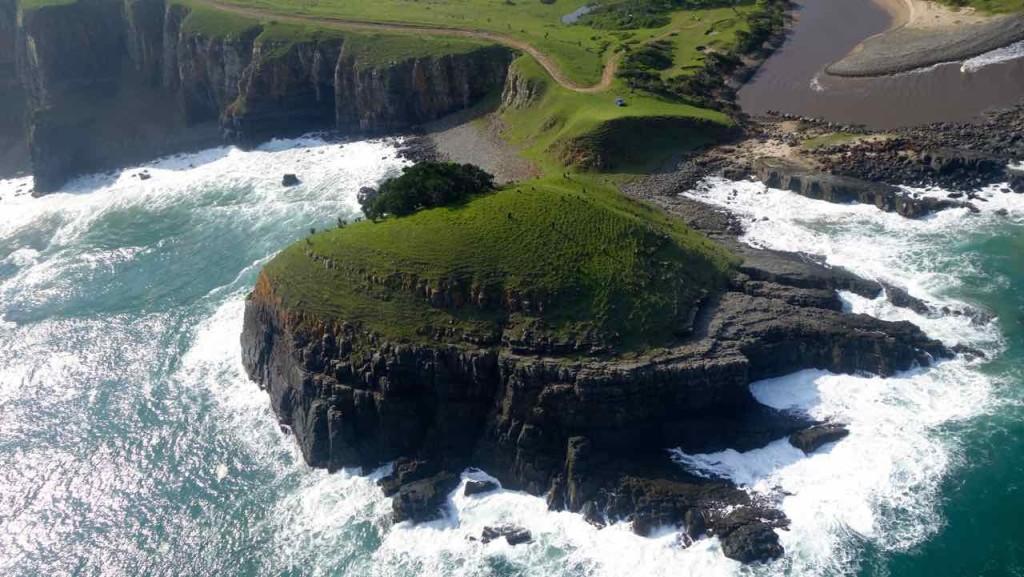 Coffee Bay an der Wild Coast vom Hubschrauber