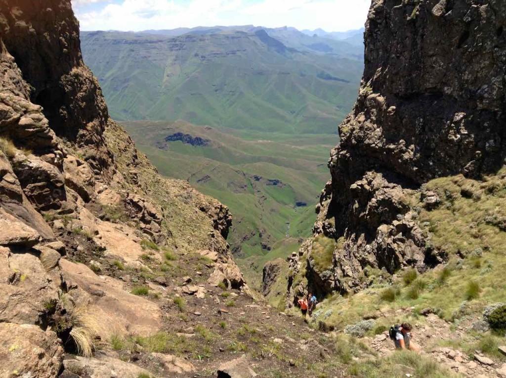 Südafrika, Northern Drakensberg Aufstieg 2