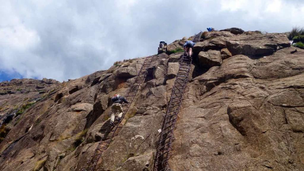 Südafrika, Northern Drakensberg Eisenleiter