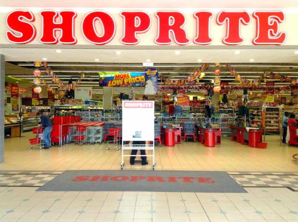 Supermärkte iAfrika, Swaziland, Shoprite, Eingang