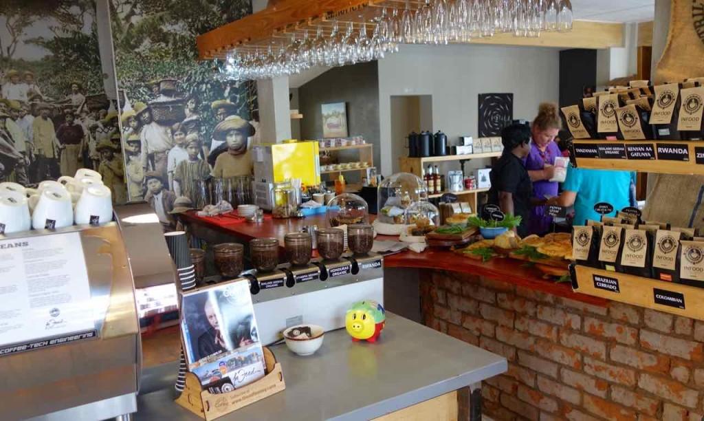 Jeffreys Bay, InFood Café, Theke