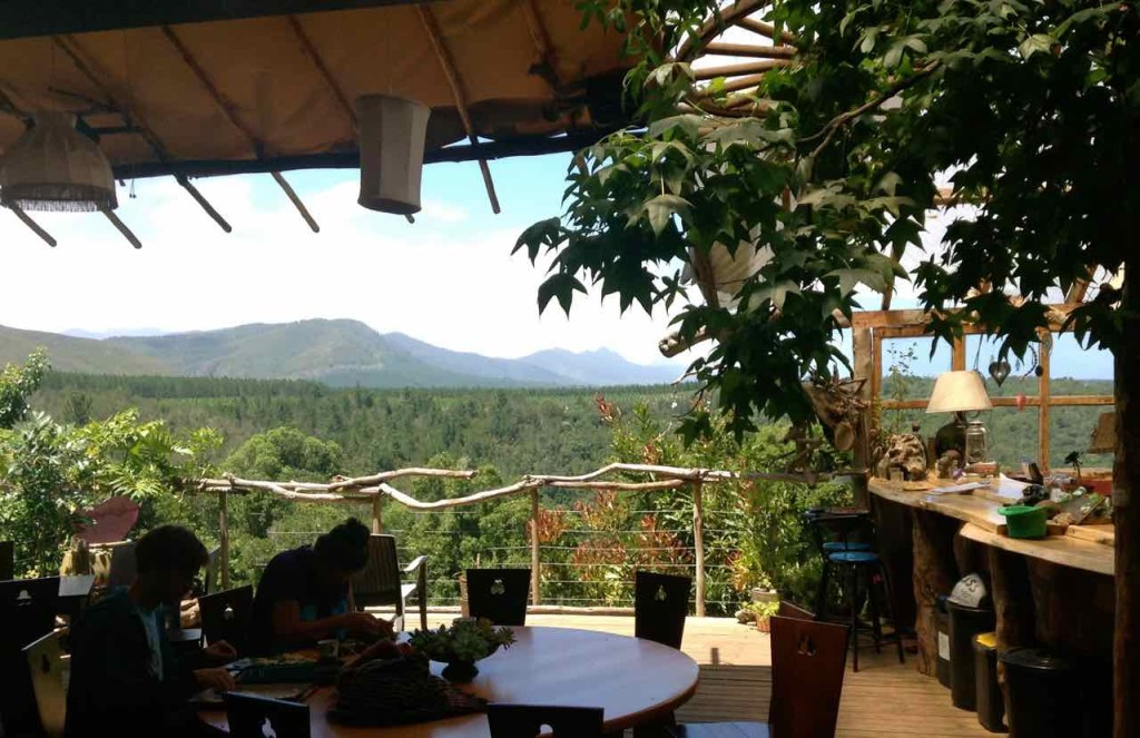 Natures Valley, Wild Spirit Lodge, Restaurant mit Blick