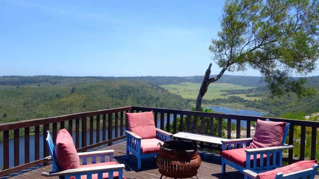 Südafrika, Plettenberg, African Array Lodge, Terrasse
