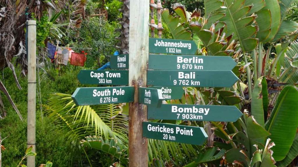 Südafrika, Wegweiser in Victoria Bay
