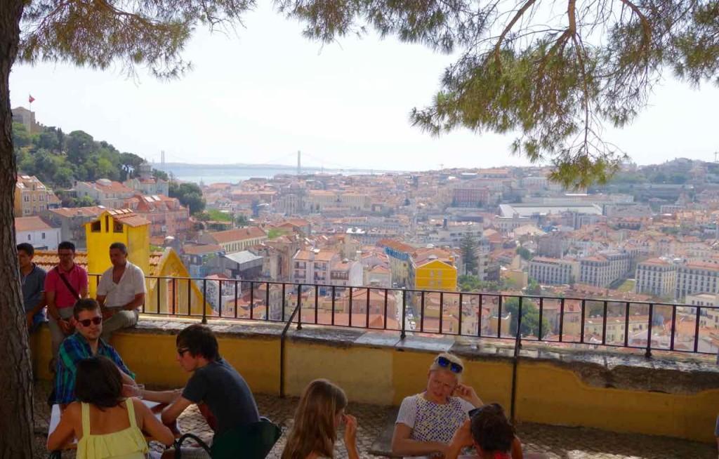 Lissabon, Aussichtspunkt Miradouro da Graça