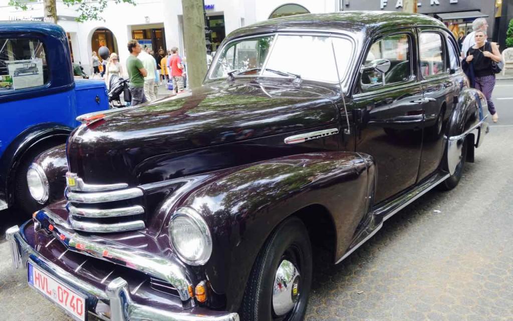 Classic Days Berlin,Oldtimer, Opel Kapitän, das klassische Gangsterauto im deutschen Film.