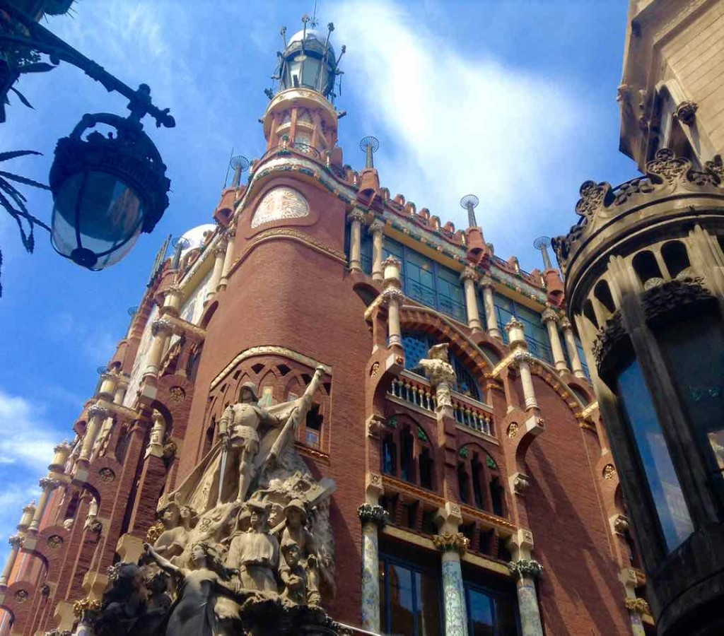 Barcelona Palau de la Musica, Fassade total