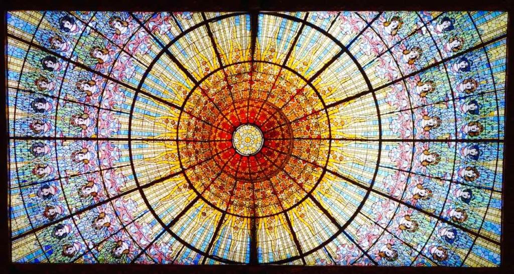 Barcelona Palau de la Musica, Glasdecke