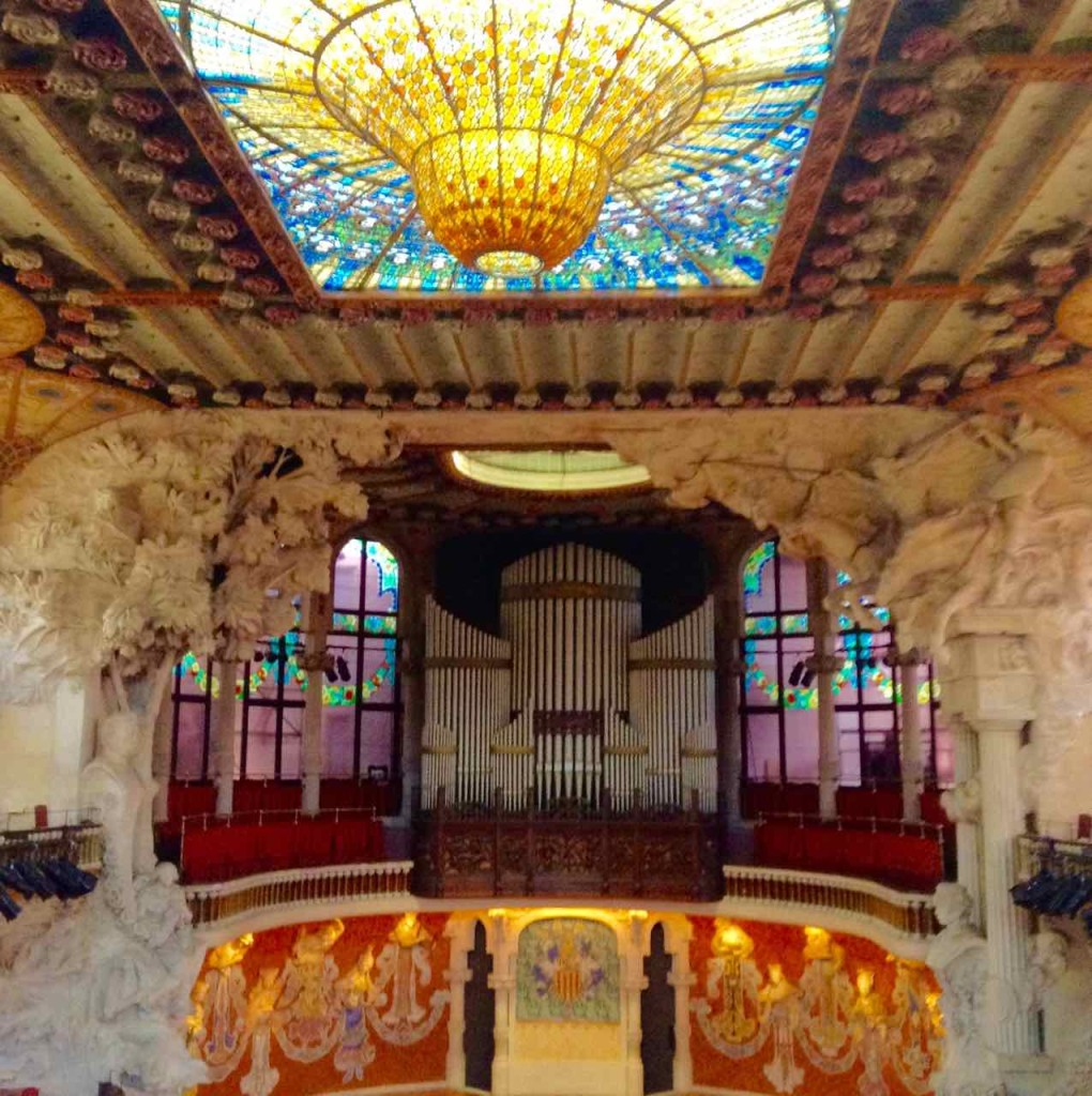 Barcelona Palau de la Musica, Konzertsaal mit Orgel