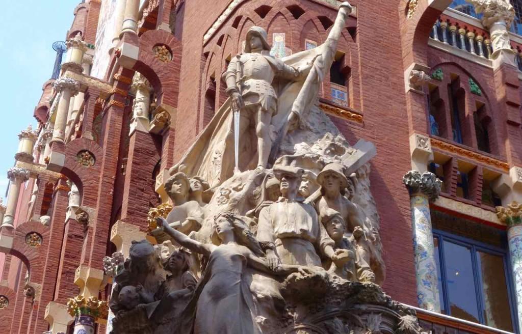 Barcelona Palau de la Musica, außen, Detail