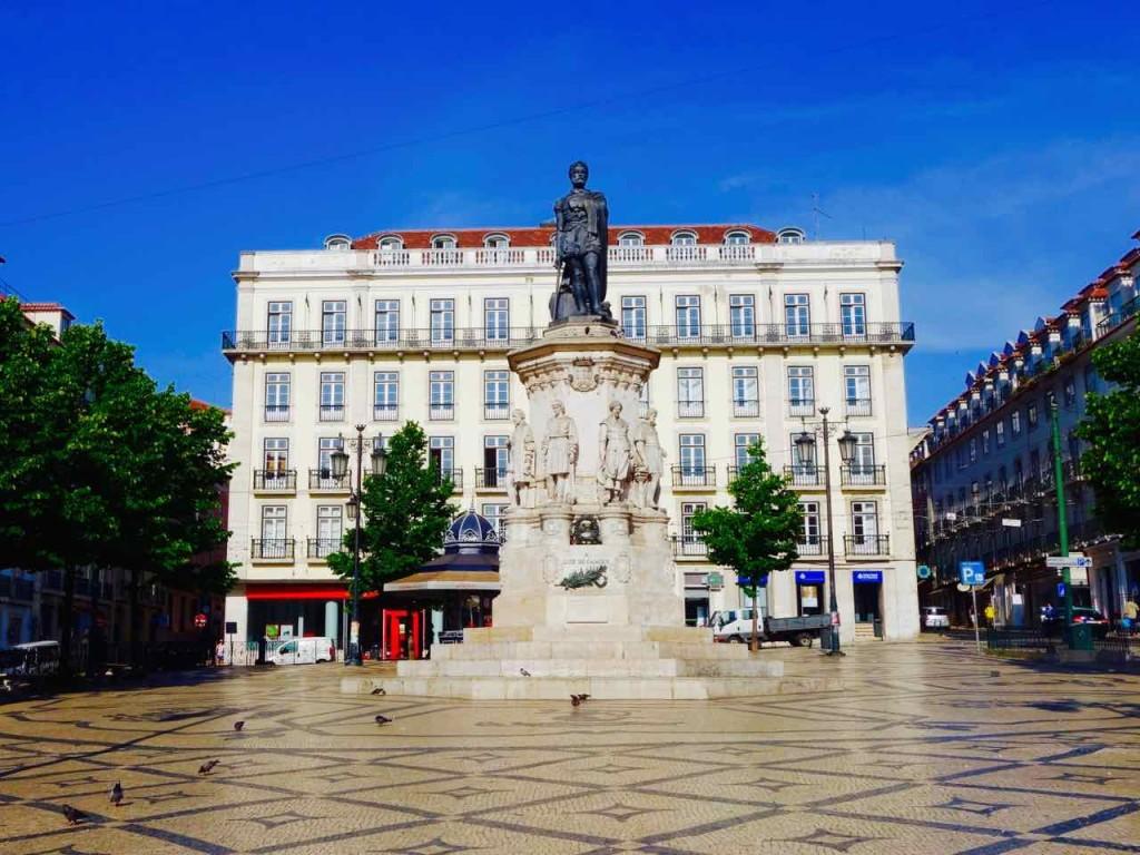 Lissabon Tipps, Largo de Camoes, Startpunkt der Free Walking Tour
