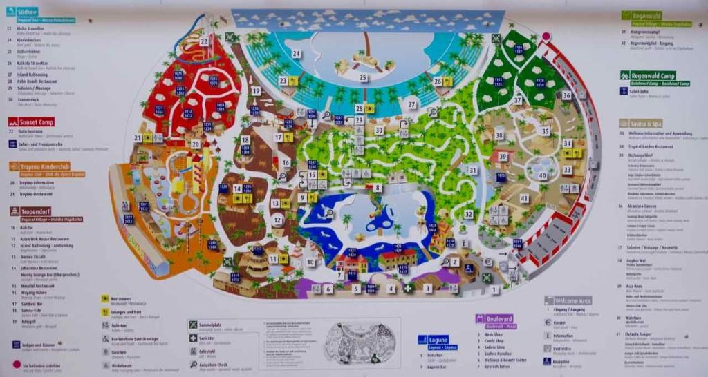Tropical Islands, Übersichtskarte mit Lageplan