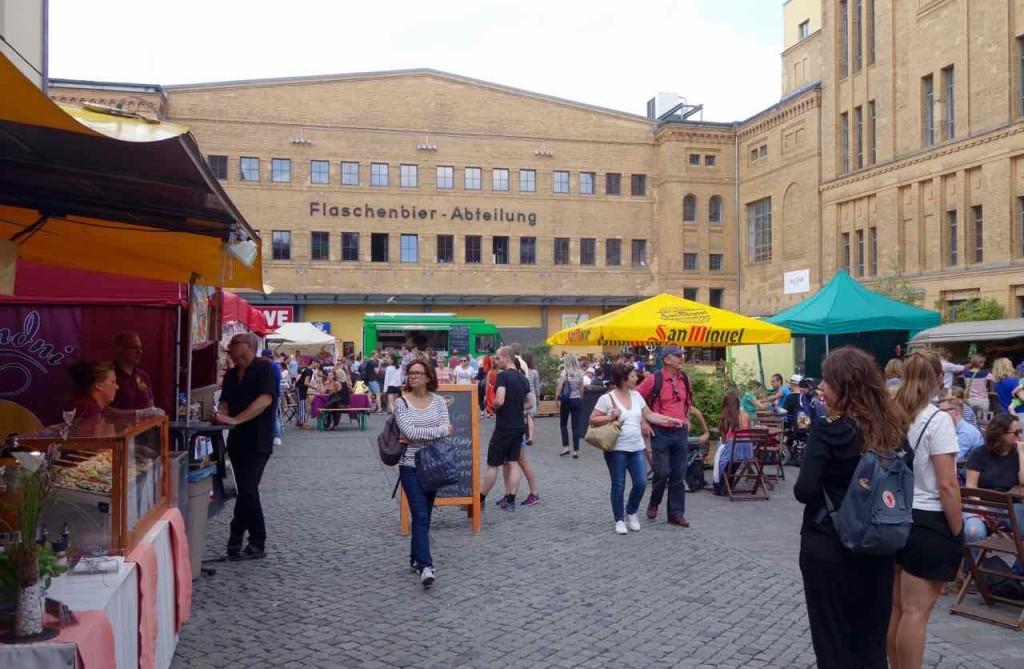 Berlin, Kulturbrauerei, Foodmarket am Sonntag