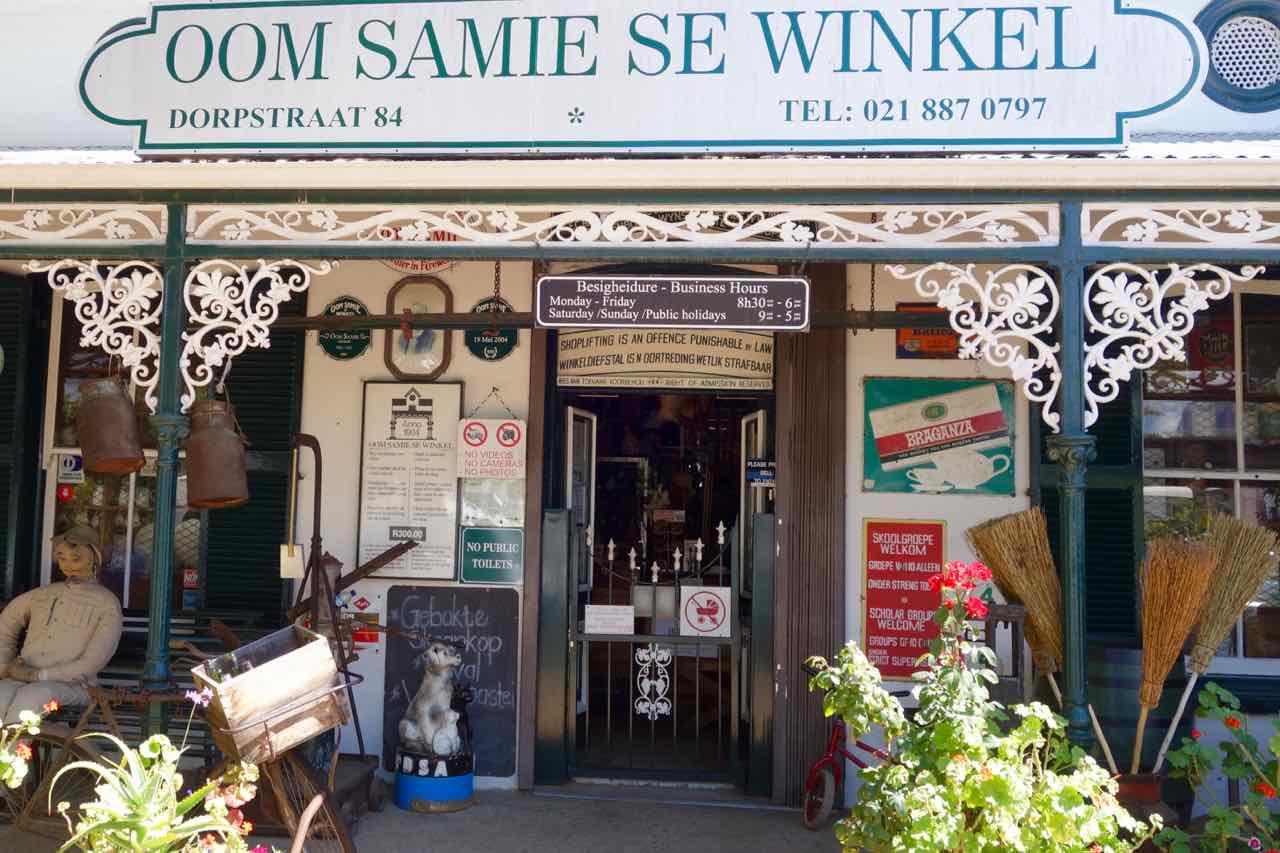 Stellenbosch, Universitätsstadt, Gemischtwarenladen Oom Samie Se Winkel
