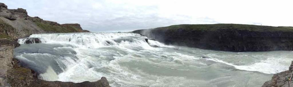 Island Tipps, Wasserfall Gullfoss, Panorama