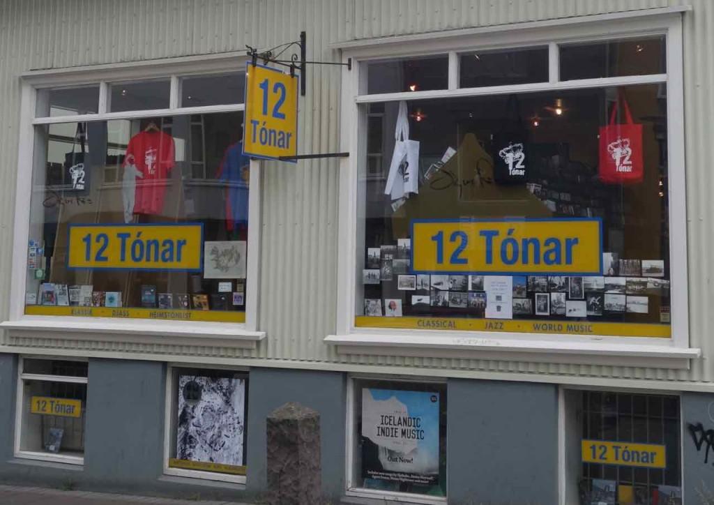 Island, Sehenswürdigkeiten, Plattenladen 12 Tónar in Reykjavik