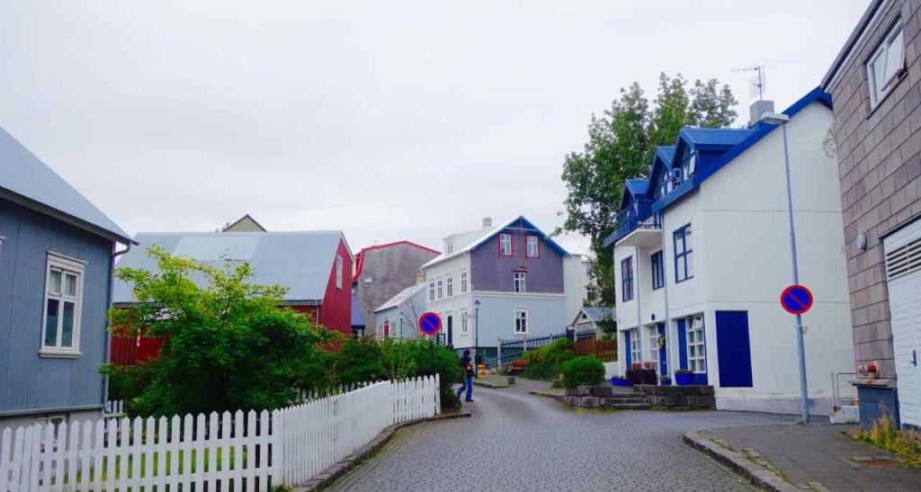 Island, Sehenswürdigkeiten, Straße in Reykjavik