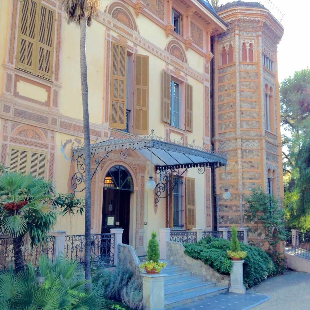 San Remo Villa Nobel Vordereingang