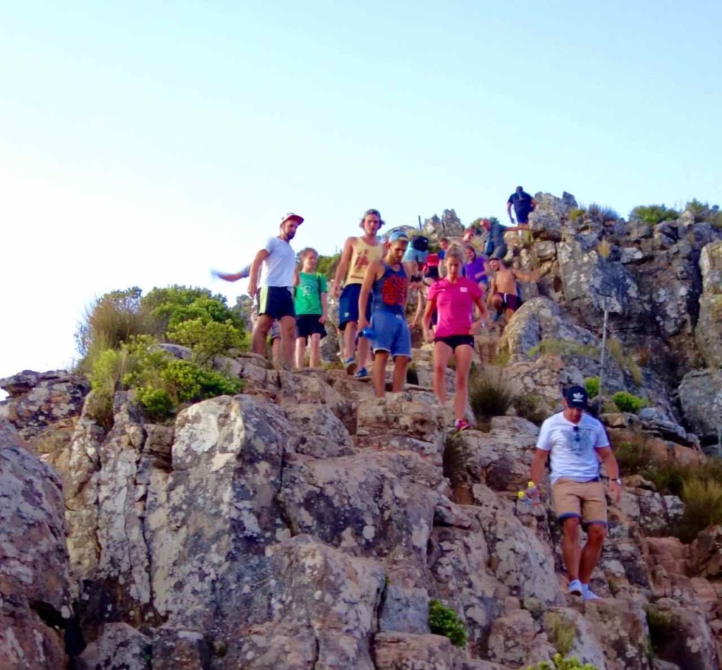 Kapstadt Lions Head - Abstieg vom Plateau 1