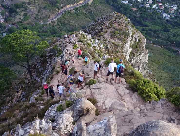 Kapstadt Lions Head - Abstieg vom Plateau