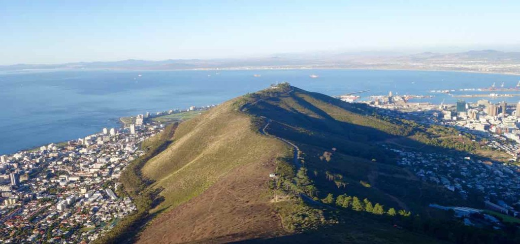 Kapstadt Lions Head - Blick auf Signal Hill