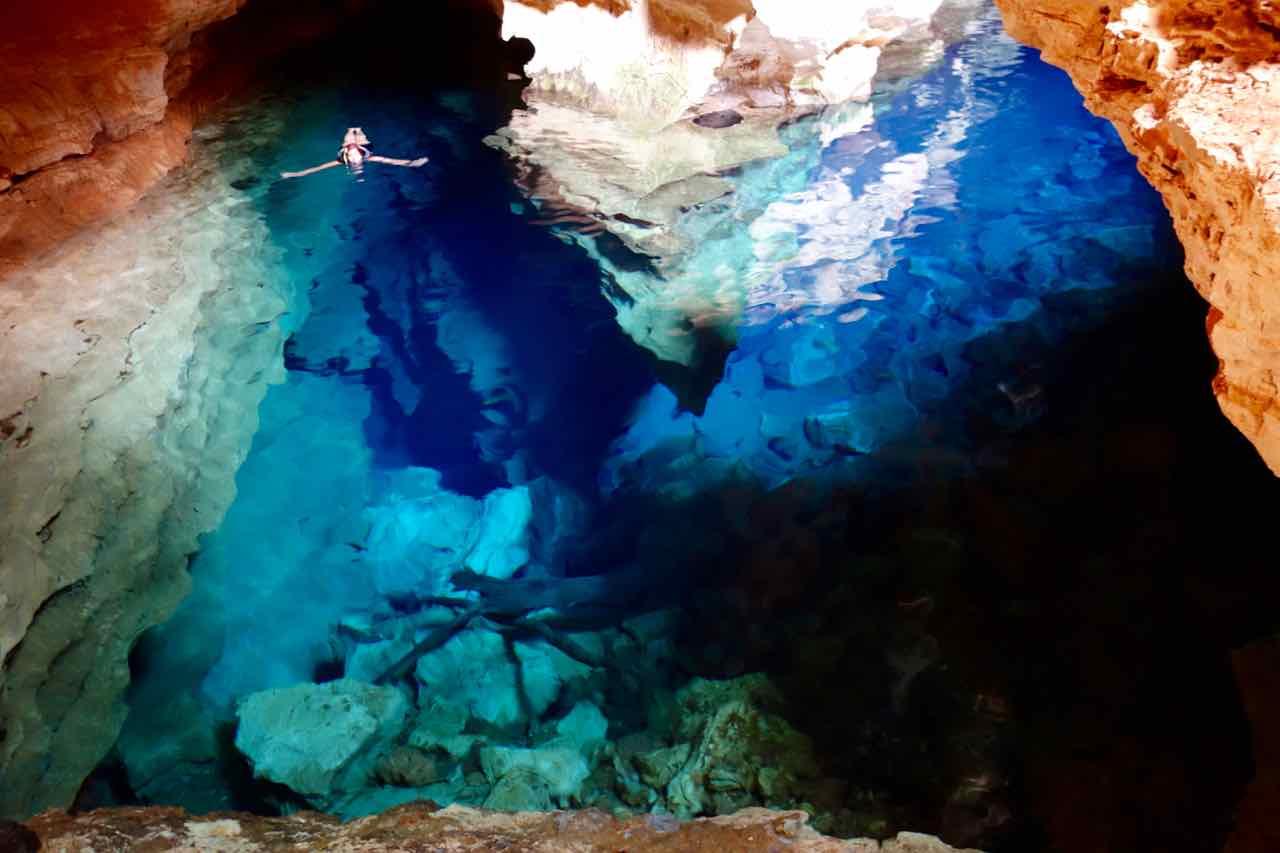 Lencois in der Chapada Diamantina:, Lagune Poco Azul