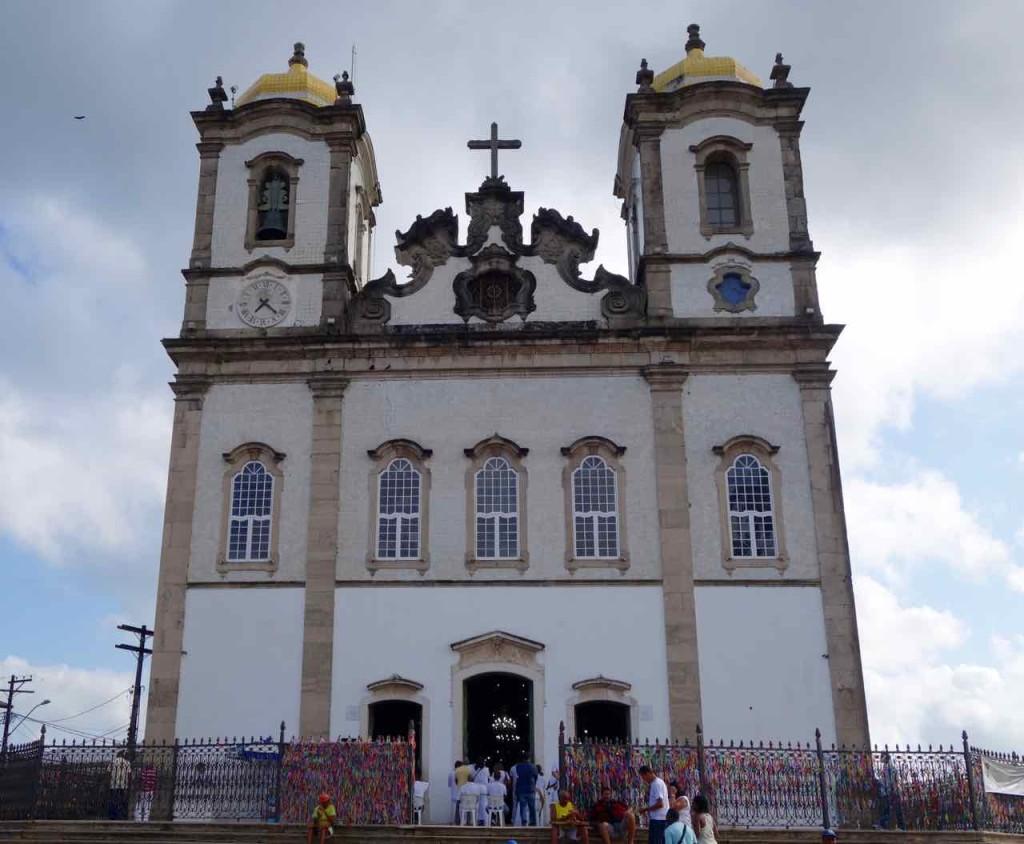 Salvador Sehenswürdigkeiten Wallfahrtskirche Igreja de Bonfim, außen
