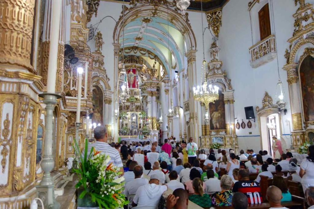 Salvador Sehenswürdigkeiten Wallfahrtskirche Igreja de Bonfim, innen