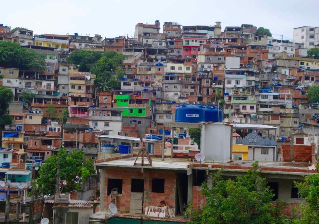 Favela Vidigal Rio de Janeiro, Häuser