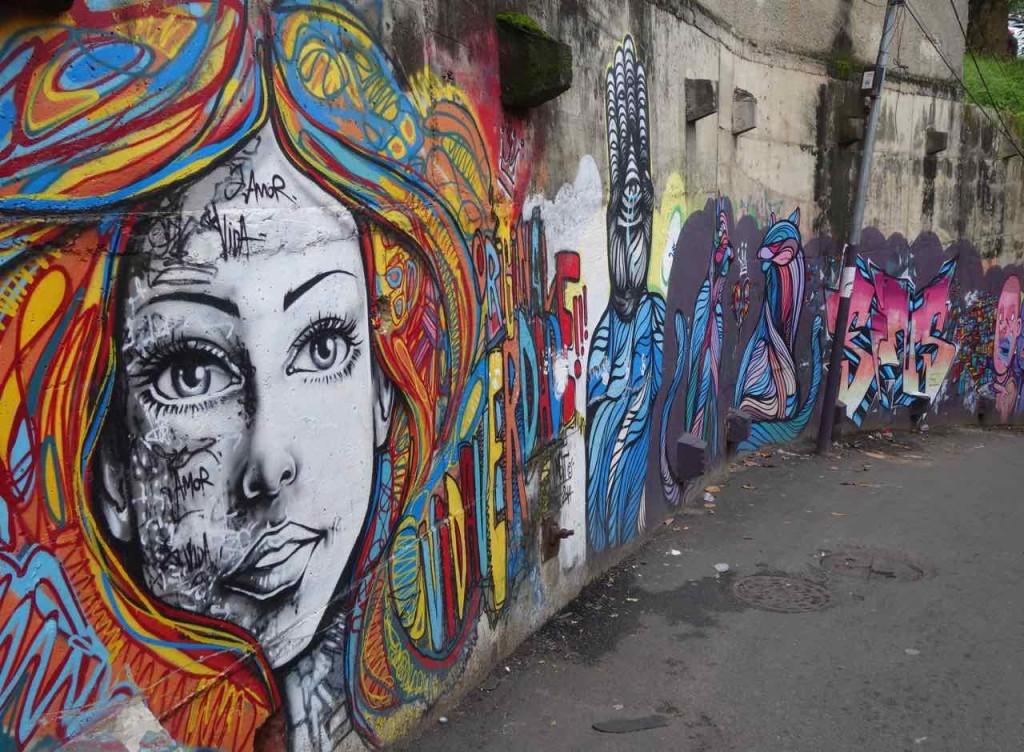 Favela Vidigal Rio de Janeiro, Streetart