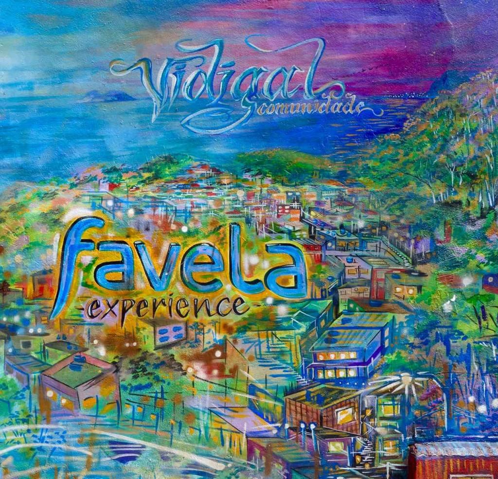 Favela Vidigal Rio de Janeiro, Wandbild