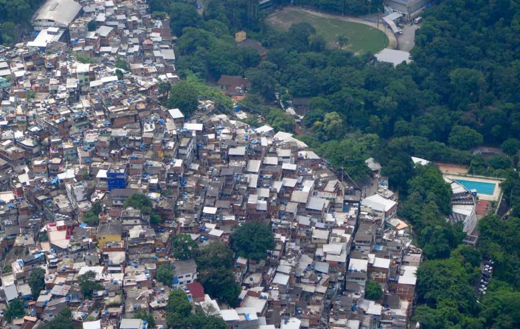 Rio de Janeiro Dois Irmaos - Blick auf Favela Rocinha