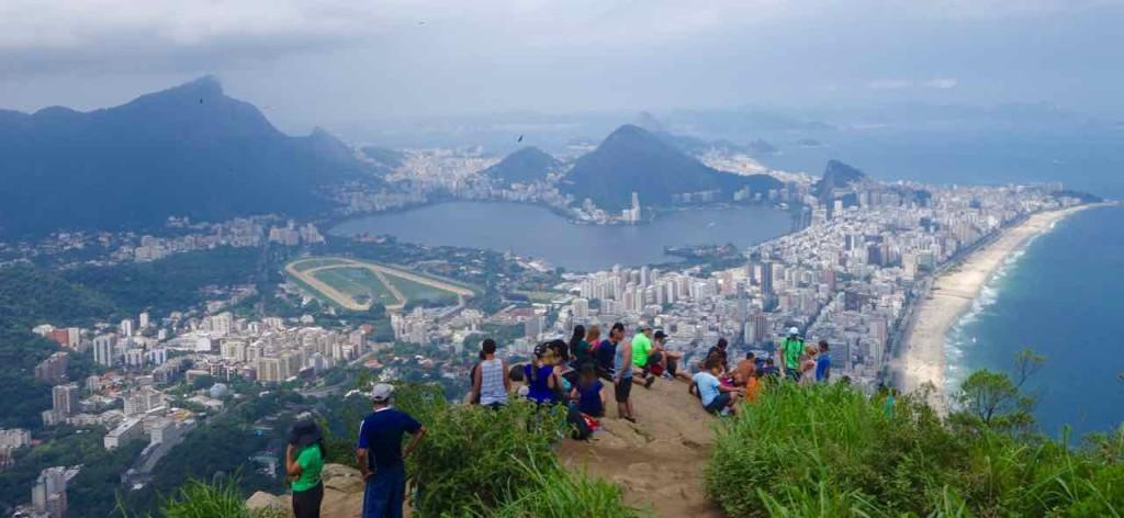 Rio de Janeiro Dois Irmaos - Zwei Brüder mit Besuchern