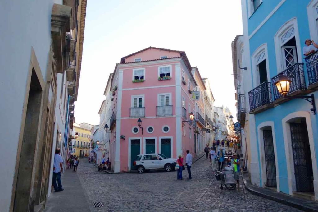 Salvador da Bahia Tipps, Pelourinho mit Gassengabelung