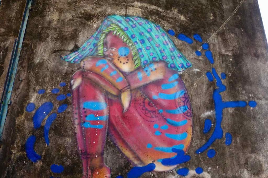 Salvador da Bahia Tipps, Streetart, kauerndes Mädchen