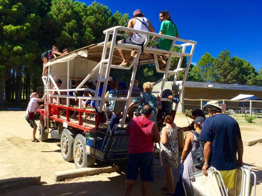 Cabo Polonio Uruguay, Anreise, Truck von hinten, iPod-Foto © PetersTravel