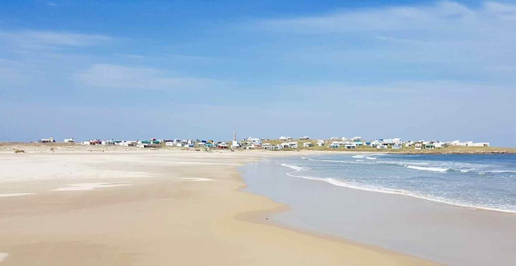 Cabo Polonio Uruguay, Anfahrt mit weitem Strand, Foto Niels Skovgaard