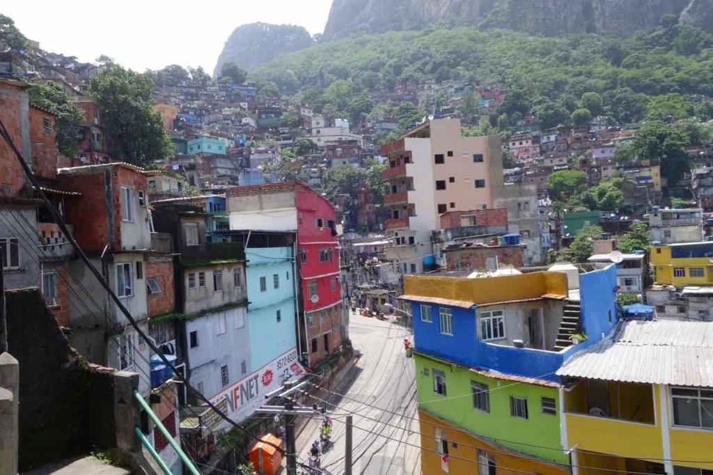 Favela Tour Rocinha, Straße von oben