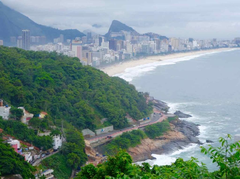 Favela Vidigal Rio de Janeiro, Blick Richtung Ipanema 1