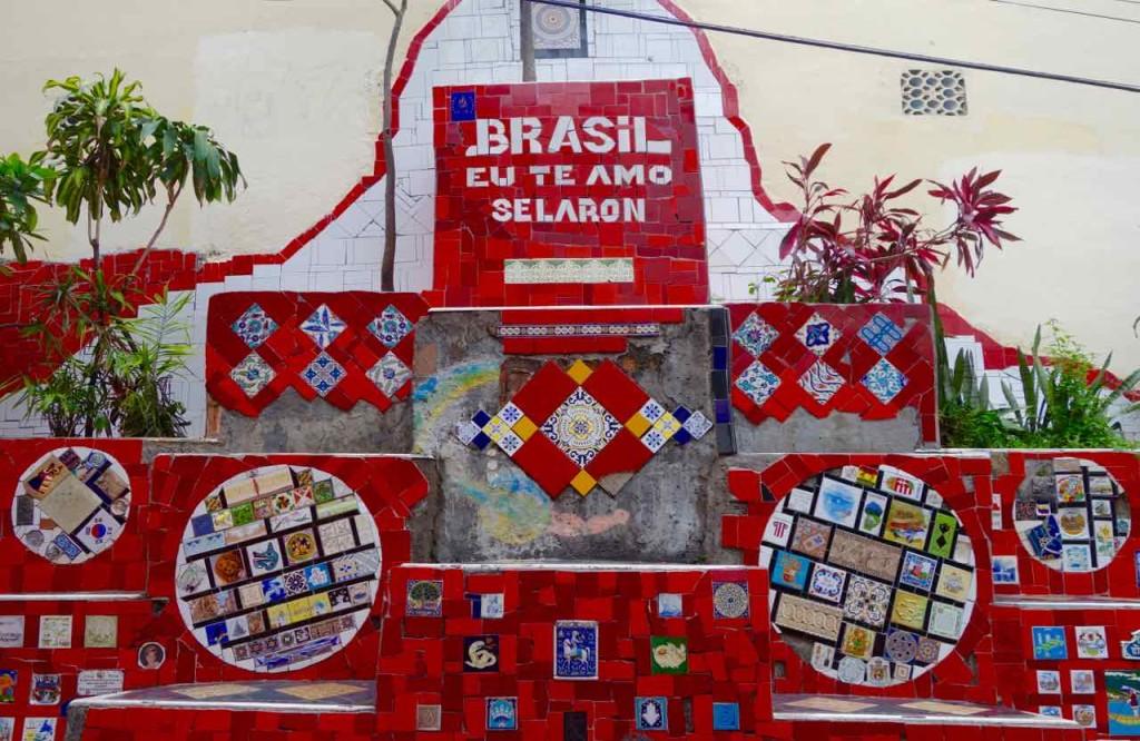 Rio de Janeiro Escadaria Selaron, Eu te amo